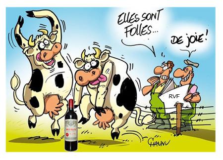 Les raisins d 39 tre soupe au lait - Vache dessin humour ...